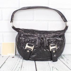 Michael Kors Black Patent Leather Handbag Purse